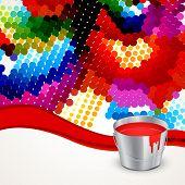 colorful holi festival background design poster