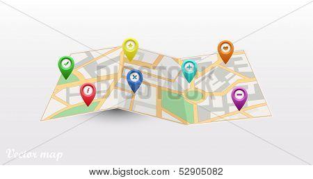 Vector map icon