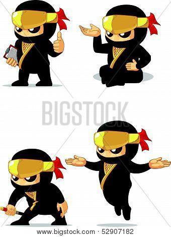 Ninja Customizable Mascot 10