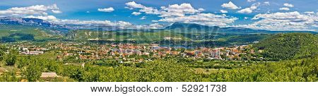 Dinara Mountain And Town Of Knin