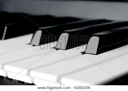 Horizontal Close Up Of Piano Keyboard Keys