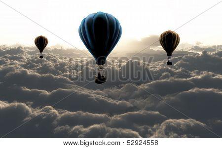 Three Air Baloon
