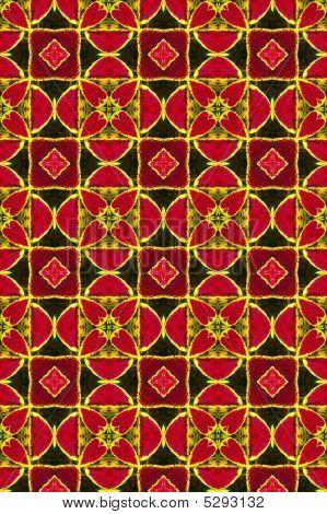 Red Ornamental Pattern