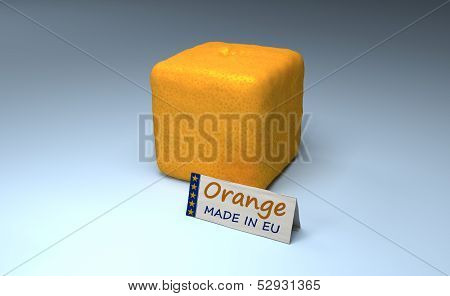 Orange Cube Made In Eu
