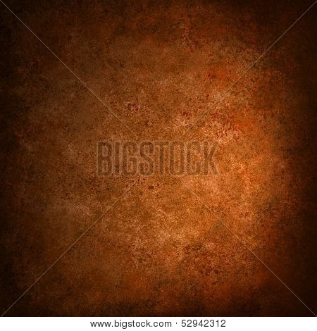abstract orange background with black grunge border texture