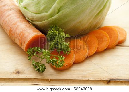 Fresh carrot with parsley