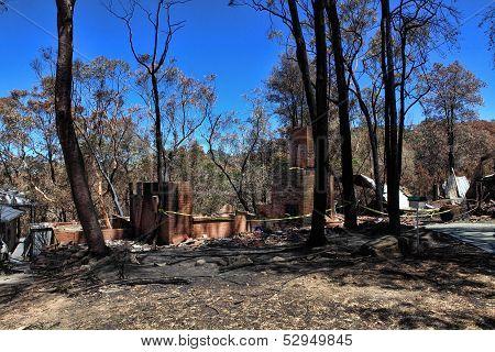 After Bushfires Homes Razed