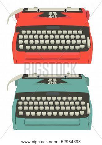 Retro typewriter set