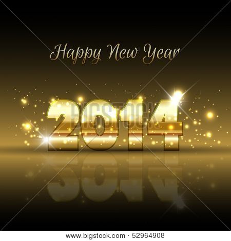 Happy New Year background with a gold metallic design