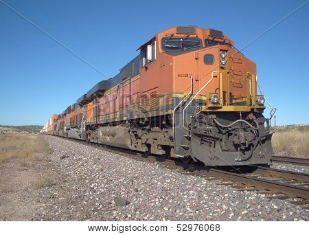 Big orange freight train