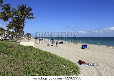 Relaxing At Deerfield Beach