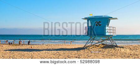 Lifeguard Tower at the Beach in San Diego, California