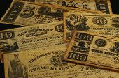 republic of texas currency 1838-1841 poster