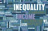 Income Inequality and Wealth Distribution as Art poster