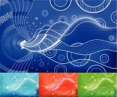 Digital Waves vector abstract background. Layers/parts easily removable and can be easily changed. poster