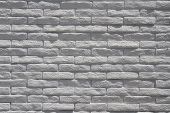 white painted brick wall poster