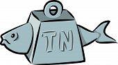 Tuna fish cartoon. Illustrator 8 compatible vector file. No gradients or transparencies. poster