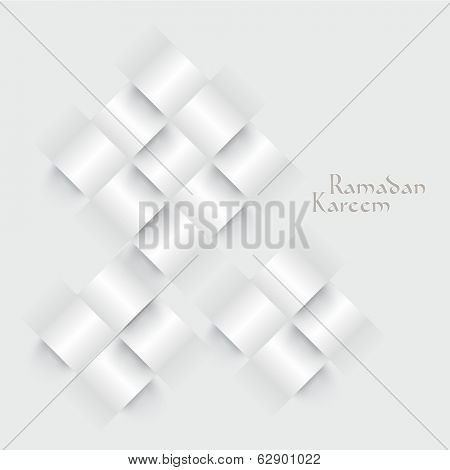 Vector 3D Paper Ketupat (Muslim Rice Dumpling). Translation: Ramadan Kareem - May Generosity Bless You During The Holy Month.