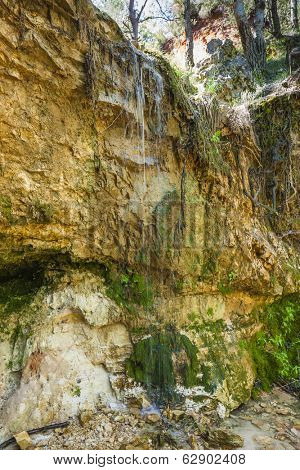 waterfall in Colorado Provencal, Provence, France
