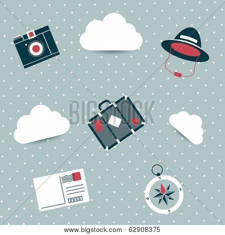 Wallpaper design. Travel concept.