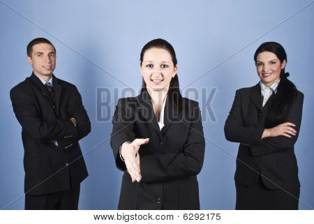 Wecome Business Gesture