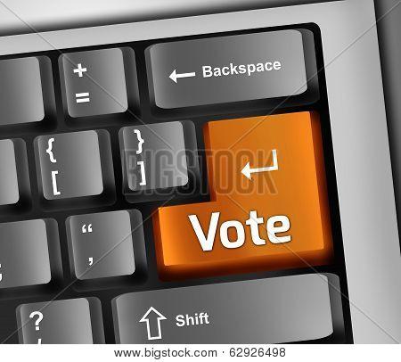 Keyboard Illustration Vote