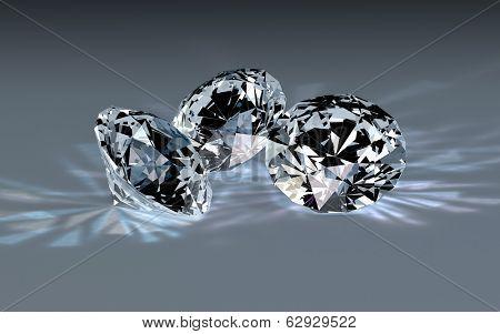Three diamonds.