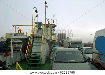 Ferry Klaipeda-neringa. Klaipeda Port. Lithuania