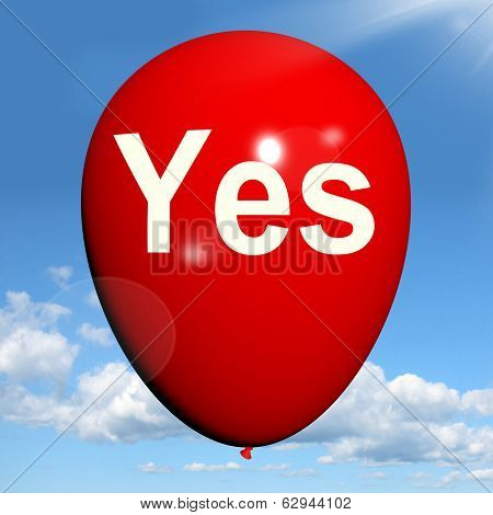 Yes Balloon Means Affirmative Approval And Certainty