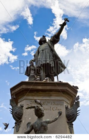 Monument Of Christopher Columb In Santo Domingo