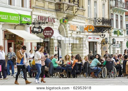 Outdoor Dining In Council Square, Brasov
