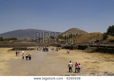 Pyramid Of The Sun In Teotihuacan Pyramid Complex In Mexico