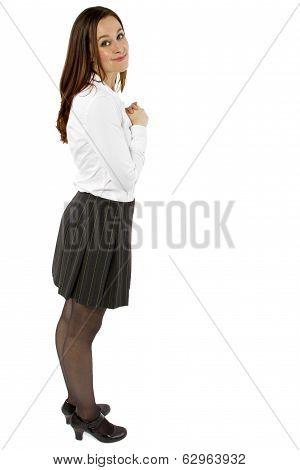 Student on White BG