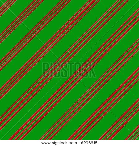 Candy Cane Patterned Green and Red Paper