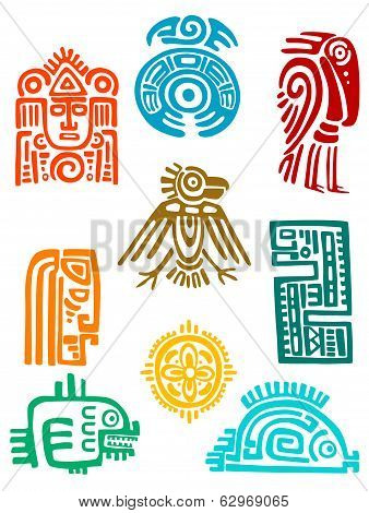 Ancient Maya Elements And Symbols