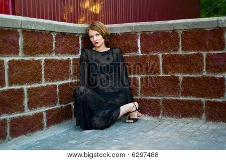 Sad Girl In Black Dress