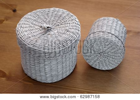 Two Seagrass Basket