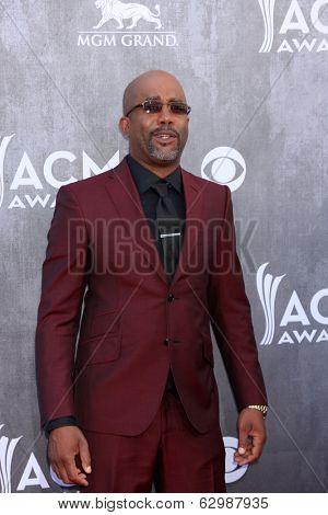LAS VEGAS - APR 6:  Darius Rucker at the 2014 Academy of Country Music Awards - Arrivals at MGM Grand Garden Arena on April 6, 2014 in Las Vegas, NV