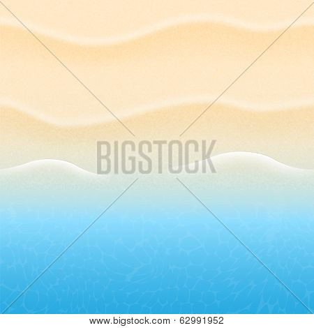 Summer Background With Beach Sand And Sea