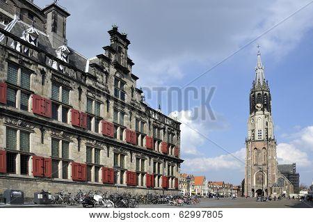 The So Called Nieuwe Kerk In Delft, Holland