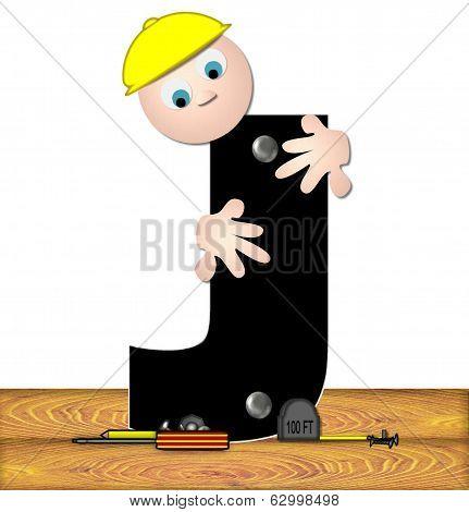 Alphabet Construction Worker J