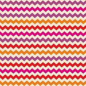 Aztec Chevron seamless colorful vector pattern or tile background with zig zag red, purple, pink and orange stripes on beige background. Thanksgiving background, desktop wallpaper or website design element poster