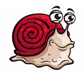 Slow snail in cartoon style Vector illustration poster