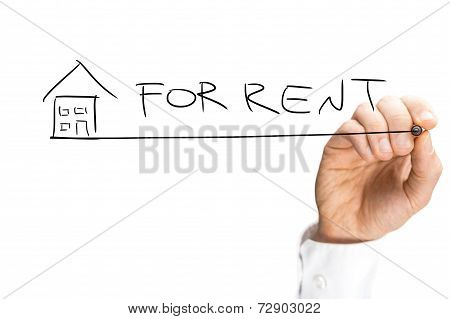 Hand Drawing House For Rent Design