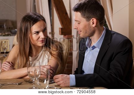 Attractive Woman Coquetting Her Friend