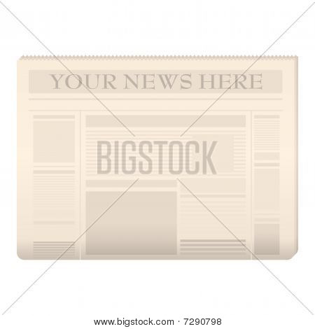 Colored Newspaper Template