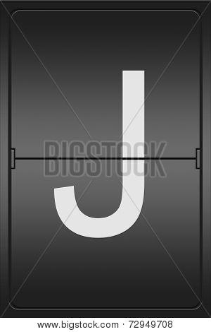 Letter J On A Mechanical Leter Indicator