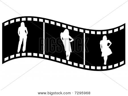 Illustration of a film strip