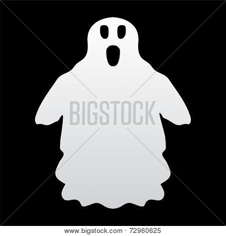 ghost on a black background
