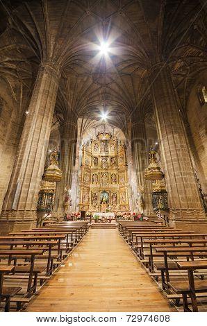 Interior of catolic church La Asuncion in Briones La Rioja Spain on January 4 2014.